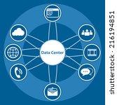 big data icon set  data center... | Shutterstock .eps vector #216194851