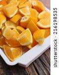 oranges fruits   Shutterstock . vector #216198535