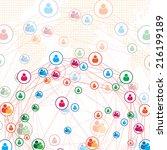 communication technology... | Shutterstock .eps vector #216199189