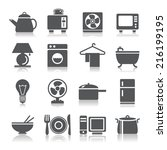 houseware icons | Shutterstock .eps vector #216199195