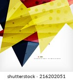 modern 3d abstract shapes on... | Shutterstock . vector #216202051