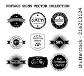 collection of vintage vector... | Shutterstock .eps vector #216213124