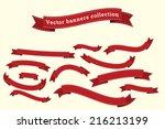 ribbon banners vector... | Shutterstock .eps vector #216213199