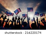 group of people waving armenian ... | Shutterstock . vector #216220174