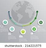 vector illustration of ecology...   Shutterstock .eps vector #216221575