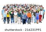Multiethnic Group Of People...