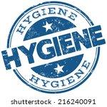 hygiene stamp | Shutterstock .eps vector #216240091
