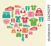 clothing and accessories icons... | Shutterstock .eps vector #216240295