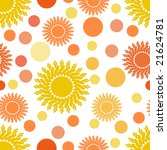suns and dots seamless... | Shutterstock .eps vector #21624781