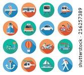 Flat Icons Set   Transportatio...