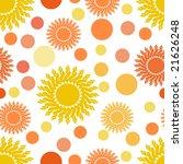 suns and dots seamless... | Shutterstock . vector #21626248