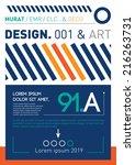 blue brochure template | Shutterstock .eps vector #216263731