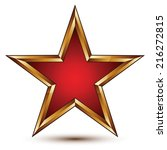 refined vector red star with... | Shutterstock .eps vector #216272815