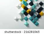 geometric origami background | Shutterstock . vector #216281065
