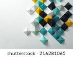 geometric origami background | Shutterstock . vector #216281065
