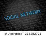 a blue color social network... | Shutterstock . vector #216282721