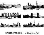 cityscape silhouette black for... | Shutterstock .eps vector #21628672