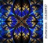 symmetrical fractal pattern.... | Shutterstock . vector #216288937