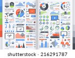set of flat devices with... | Shutterstock .eps vector #216291787