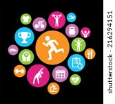 fitness icons   | Shutterstock .eps vector #216294151