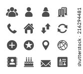 website contact icon set ... | Shutterstock .eps vector #216294481