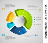 abstract pie chart graphic for... | Shutterstock .eps vector #216295645