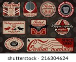 collection of customizable... | Shutterstock .eps vector #216304624