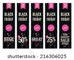 5 website banners advertising a ... | Shutterstock .eps vector #216306025