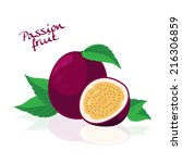 passion fruit  | Shutterstock .eps vector #216306859