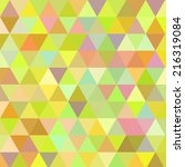 background with triangles   Shutterstock .eps vector #216319084