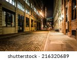 an alley at night  in brooklyn  ... | Shutterstock . vector #216320689