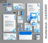 white stationery template...   Shutterstock .eps vector #216335005