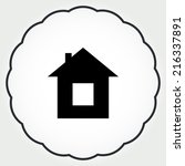 house real estate icon vector | Shutterstock .eps vector #216337891