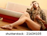 the graceful blonde sitting on... | Shutterstock . vector #21634105