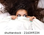 young shocking  woman with... | Shutterstock . vector #216349234