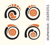 sushi roll icons vector set | Shutterstock .eps vector #216351511