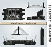 Постер, плакат: Manchester landmarks and monuments