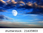cloudy sky with moon | Shutterstock . vector #21635803