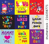 t shirt graphics   cute... | Shutterstock .eps vector #216358771