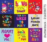 t shirt graphics   cute... | Shutterstock .eps vector #216358771