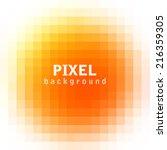 abstract pixel orange background | Shutterstock .eps vector #216359305