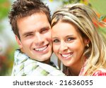 young  happy smiling couple in... | Shutterstock . vector #21636055