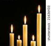 five burning candles over a... | Shutterstock . vector #21636433