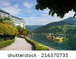 zeller lake  zell am see ... | Shutterstock . vector #216370735