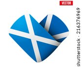 flag icon in the form of heart. ... | Shutterstock .eps vector #216376969