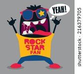 rock fan monster | Shutterstock .eps vector #216379705