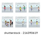 people buying medical drugs and ... | Shutterstock .eps vector #216390619