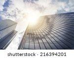 office skyscraper building in... | Shutterstock . vector #216394201