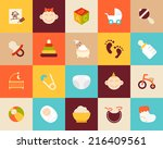 flat icons set 27   baby and...