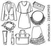 clothing and accessories | Shutterstock .eps vector #216419935
